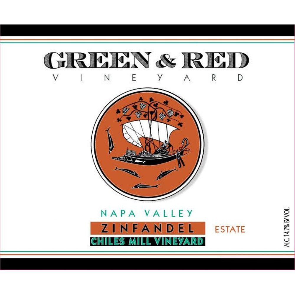 Green & Red Chiles Canyon Vineyards Zinfandel 2013 Front Label