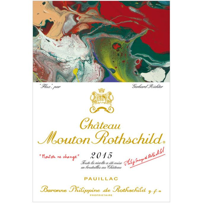 Chateau Mouton Rothschild  2015 Front Label