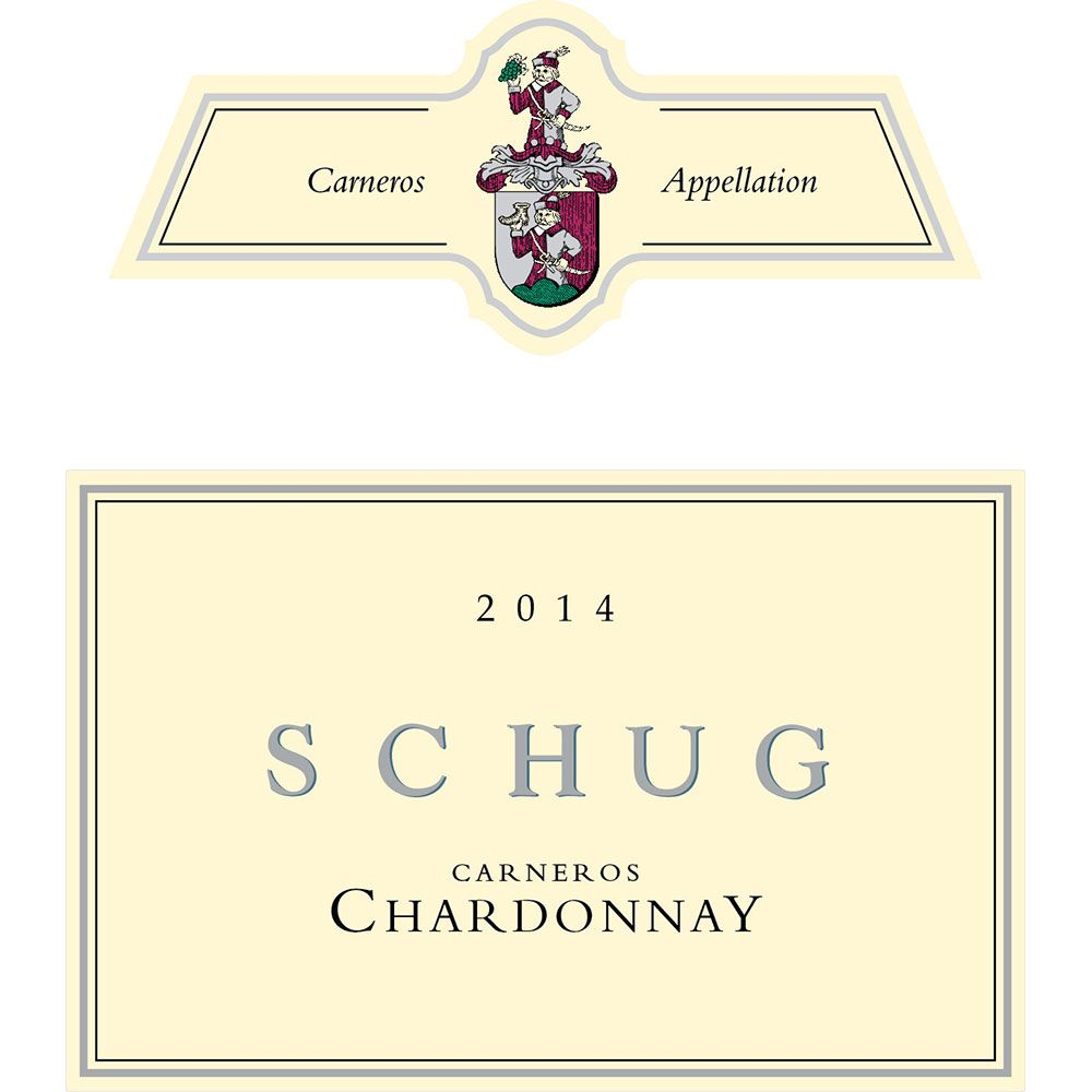 Schug Carneros Chardonnay (375ML half-bottle) 2014 Front Label