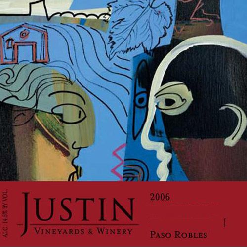 Justin Syrah 2006 Front Label