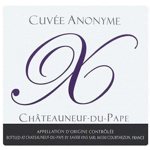 Xavier Vins Chateauneuf-du-Pape Cuvee Anonyme X 2010 Front Label