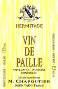 M. Chapoutier Ermitage Vin de Paille Blanc (375ML half-bottle) 1996 Front Label