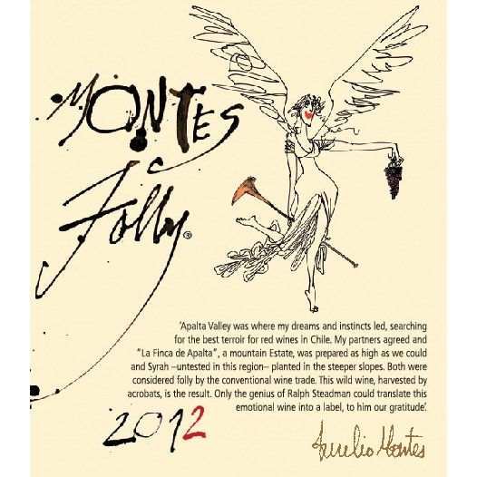 Montes Folly Syrah 2012 Front Label