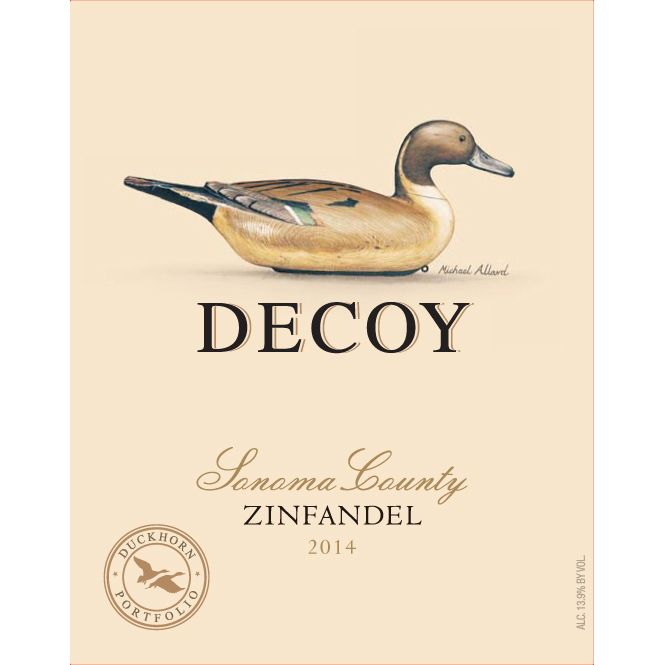 Decoy Zinfandel 2014 Front Label