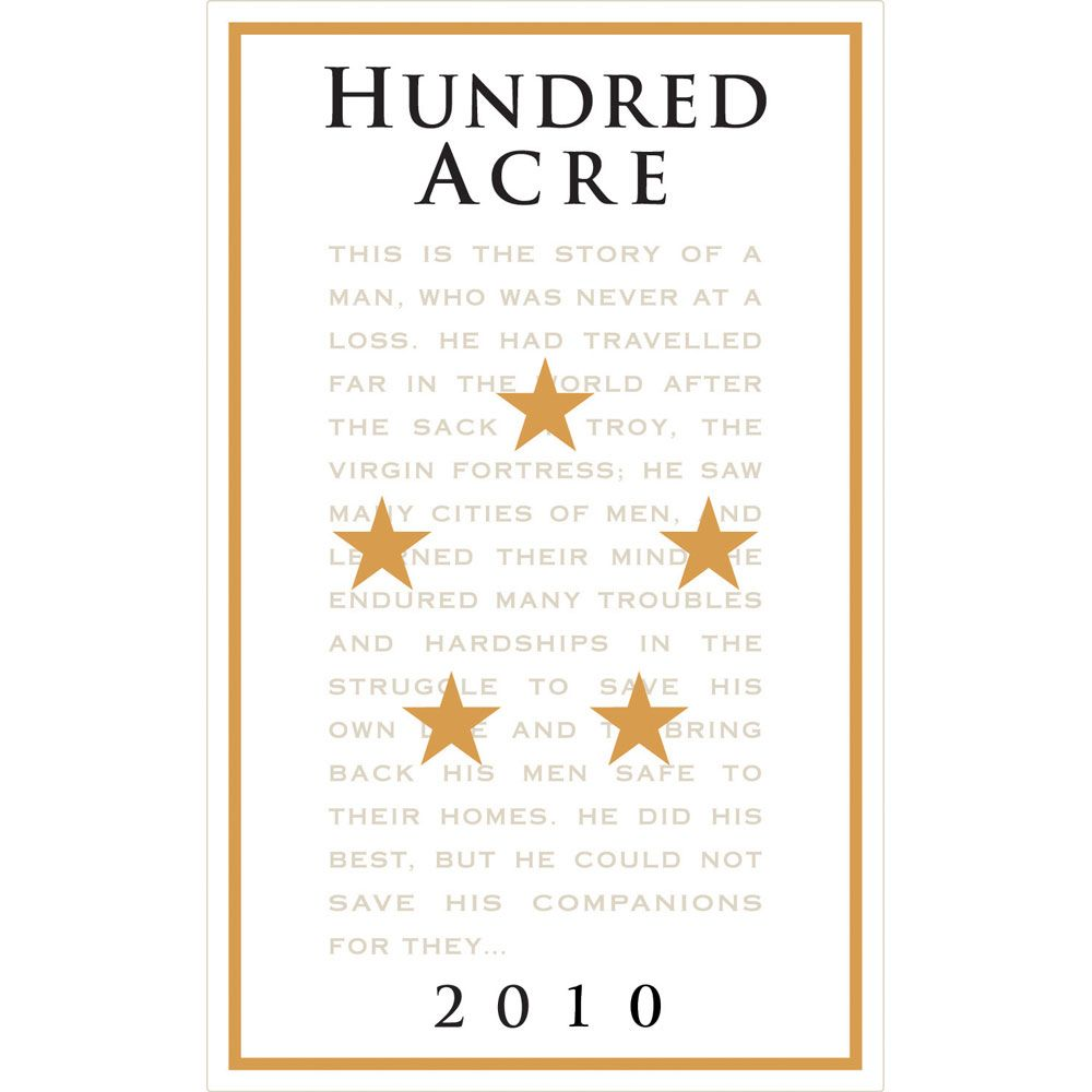 Hundred Acre Precious Cabernet Sauvignon 2010 Front Label