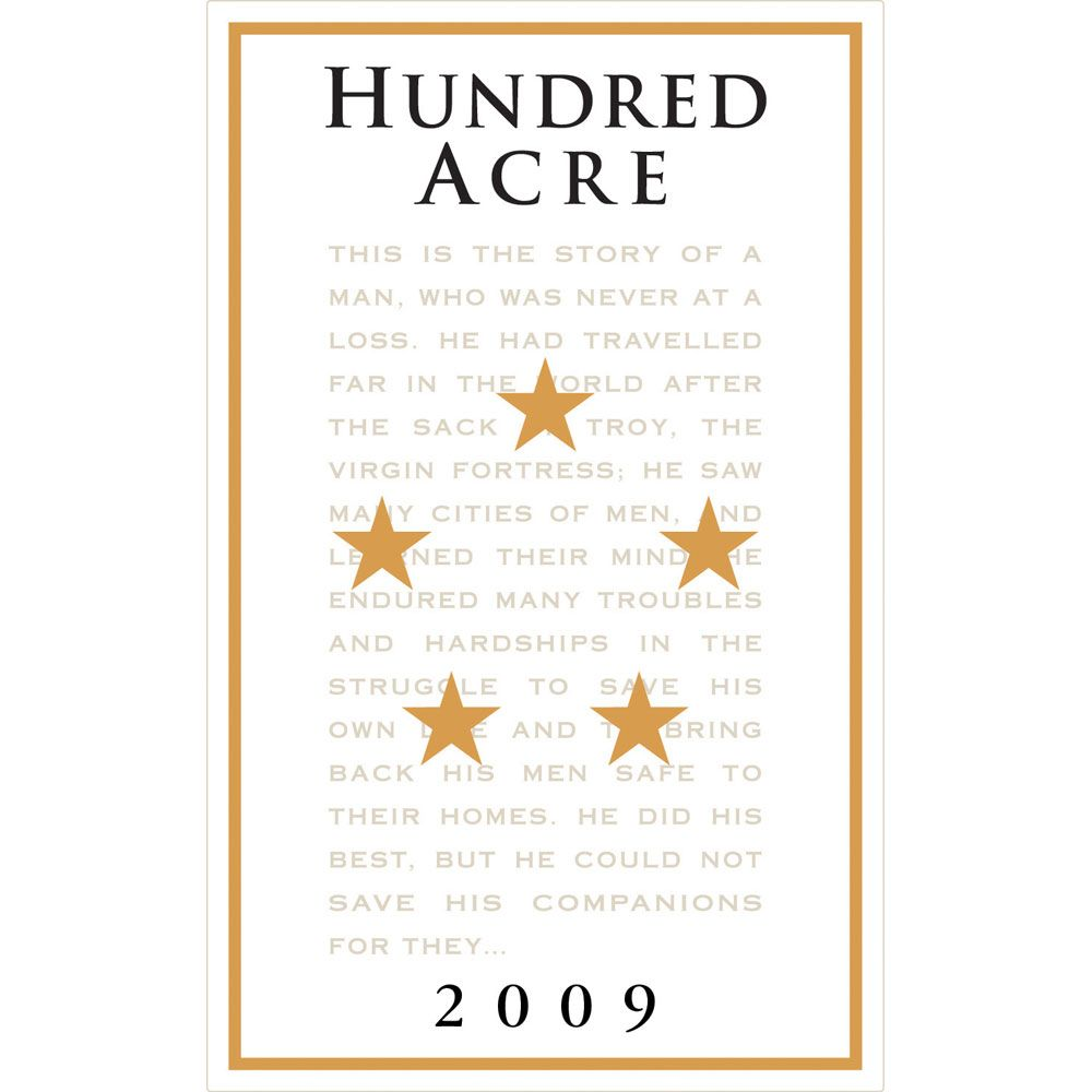Hundred Acre Precious Cabernet Sauvignon 2009 Front Label