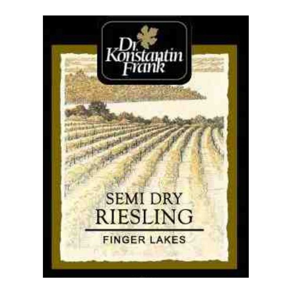Dr. Konstantin Frank Semi Dry Riesling 2014 Front Label