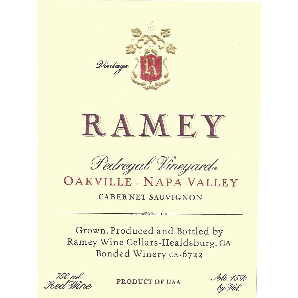 Ramey Pedregal Vineyard Cabernet Sauvignon 2012 Front Label