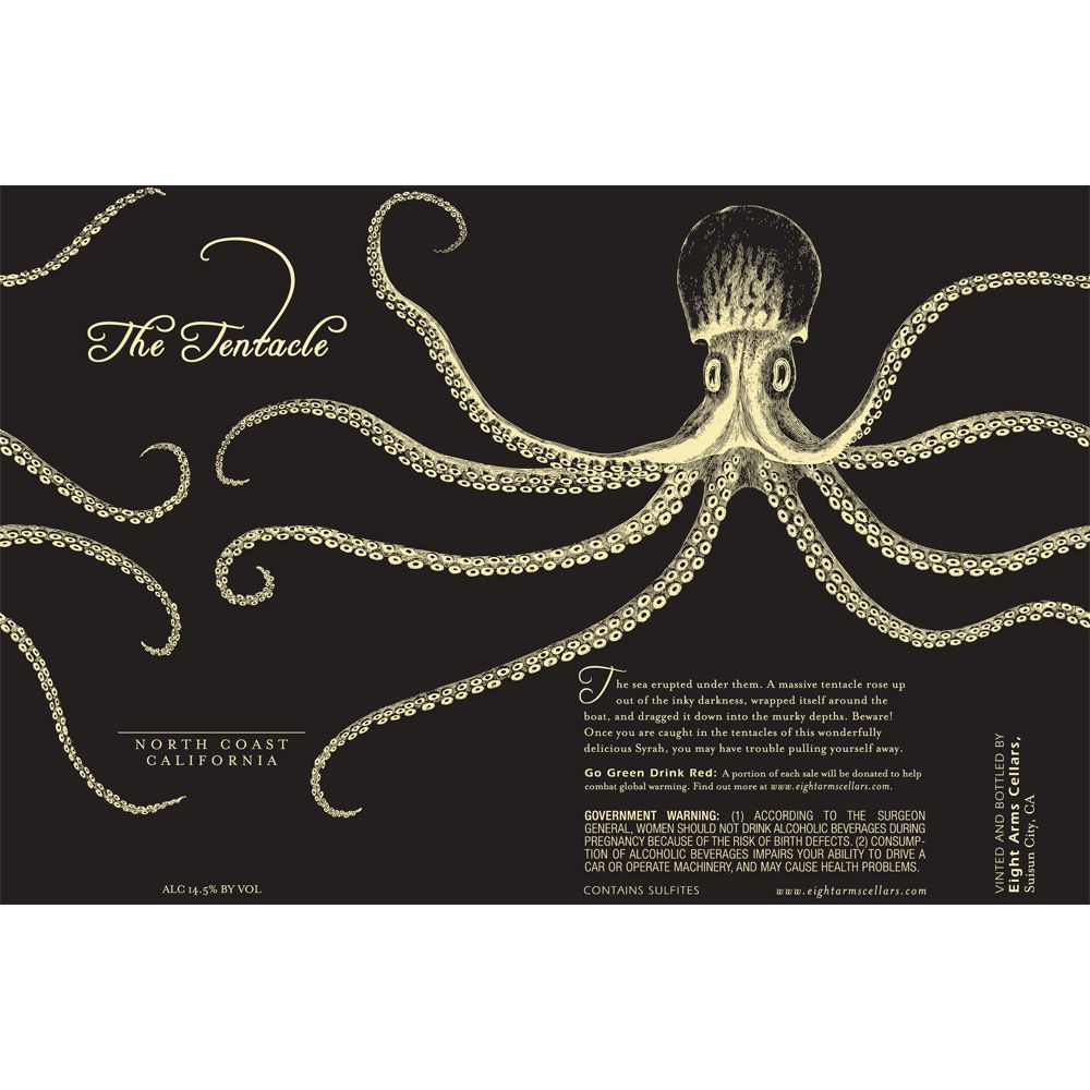 Eight Arms The Tentacle Red Blend 2011 Front Label