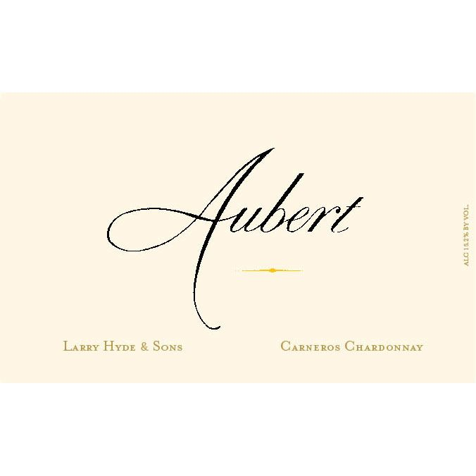 Aubert Larry Hyde & Sons Vineyard Chardonnay 2014 Front Label