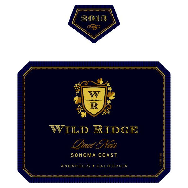 Wild Ridge Pinot Noir 2013 Front Label