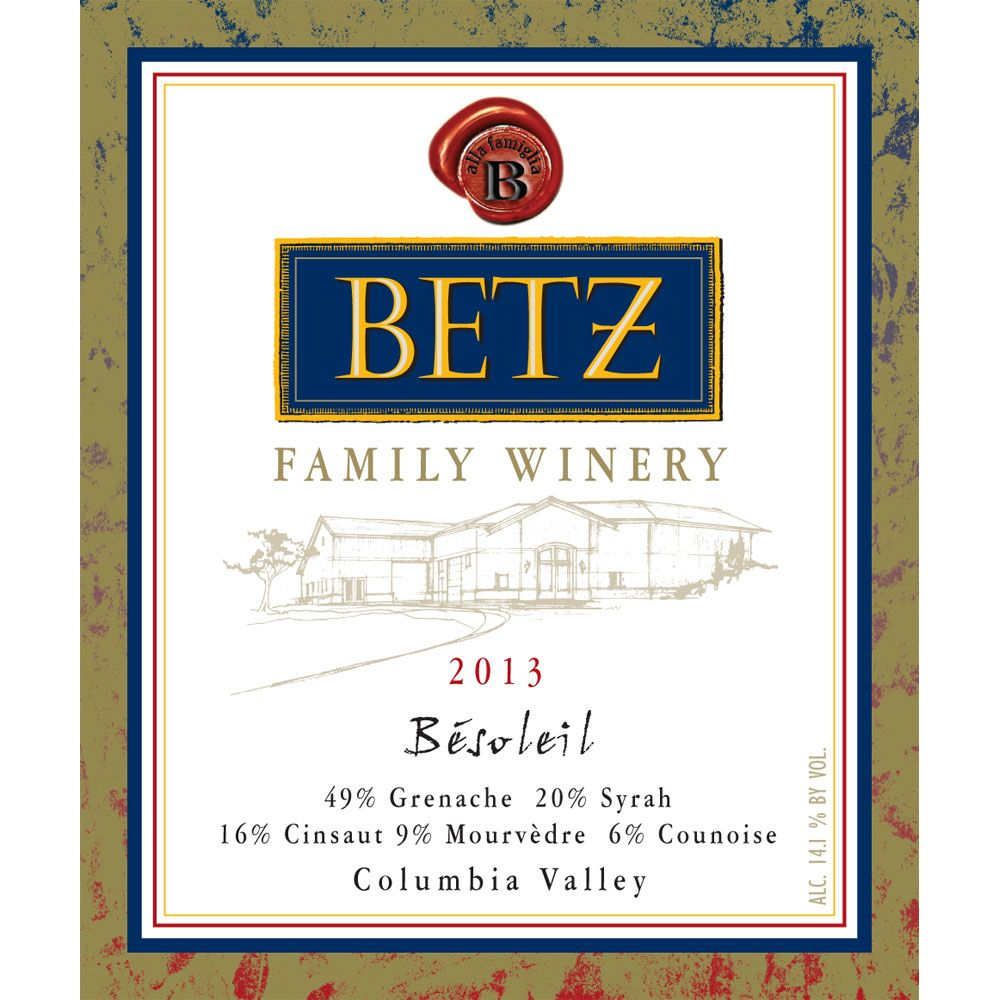 Betz Family Winery Besoleil 2013 Front Label