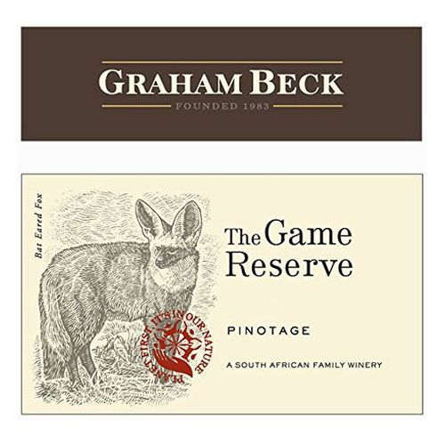 Graham Beck Game Reserve Pinotage 2014 Front Label