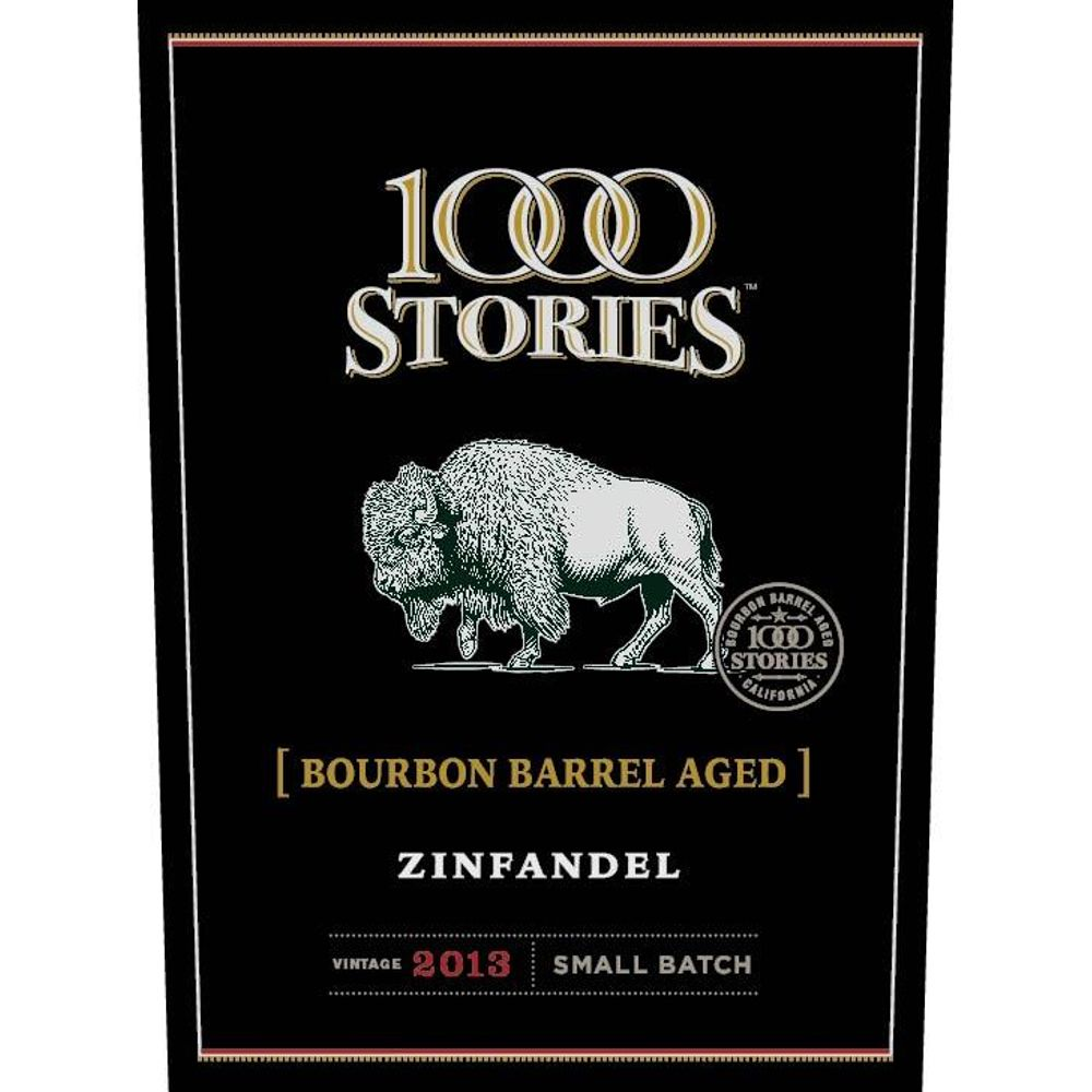 1000 Stories Bourbon Barrel Aged Zinfandel 2013 Front Label