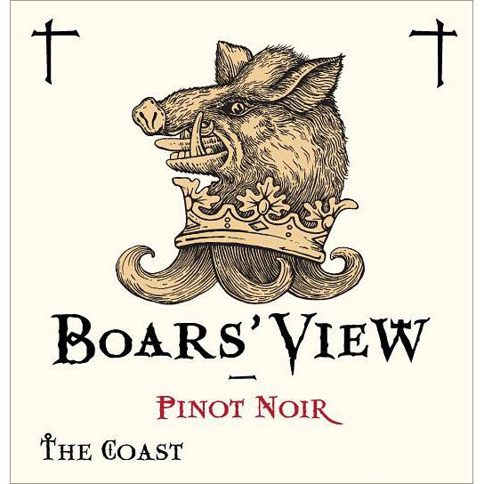 Schrader Boars' View The Coast Pinot Noir 2014 Front Label