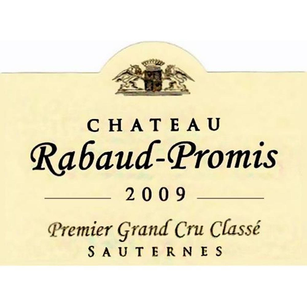 Chateau Rabaud Promis Sauternes (375ML half-bottle) 2009 Front Label