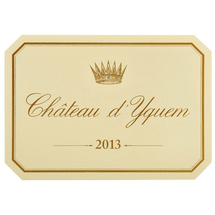Chateau d'Yquem Sauternes (375ML half-bottle) 2013 Front Label
