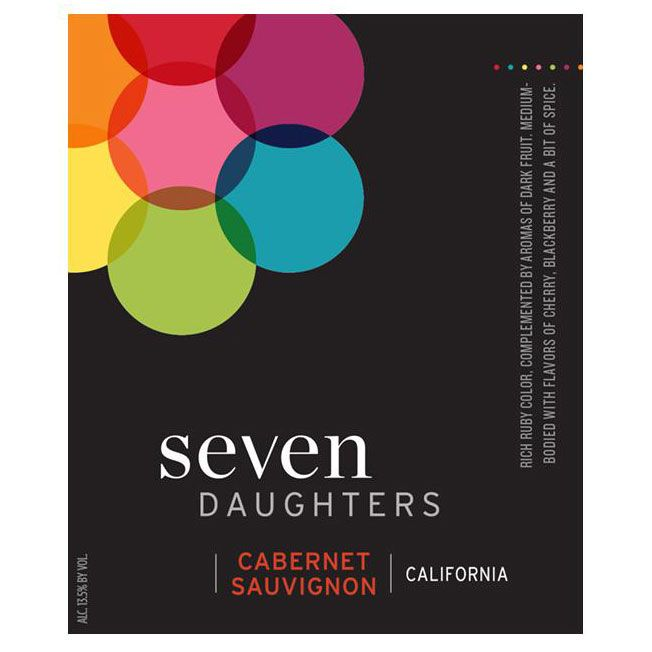 Seven Daughters Cabernet Sauvignon 2012 Front Label