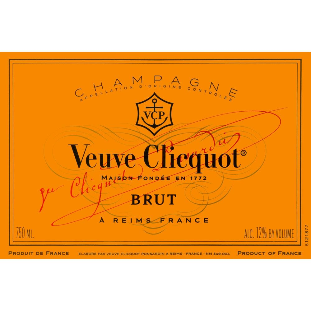 Veuve Clicquot Yellow Label Brut (375ML half-bottle) Front Label