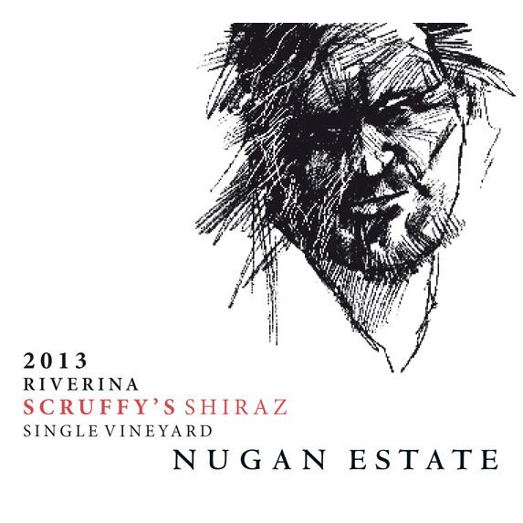 Nugan Estate Scruffy's Shiraz 2013 Front Label
