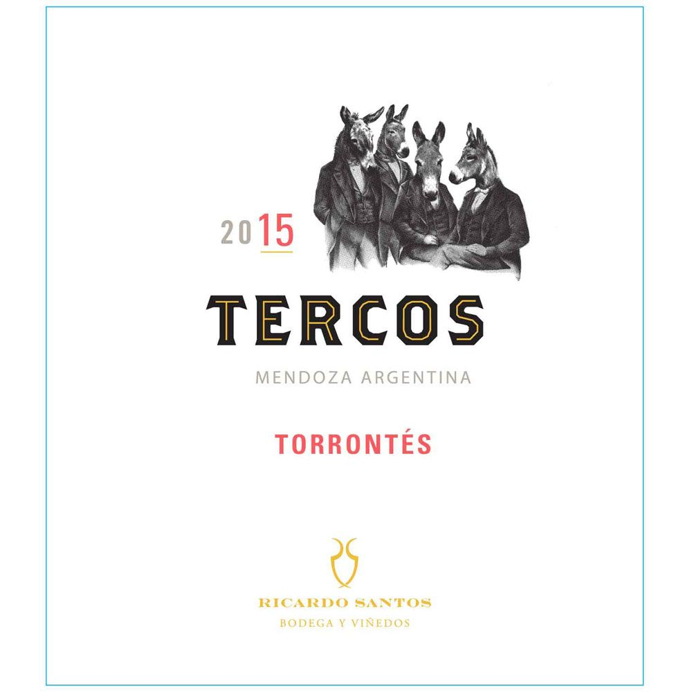 Tercos Torrontes 2015 Front Label