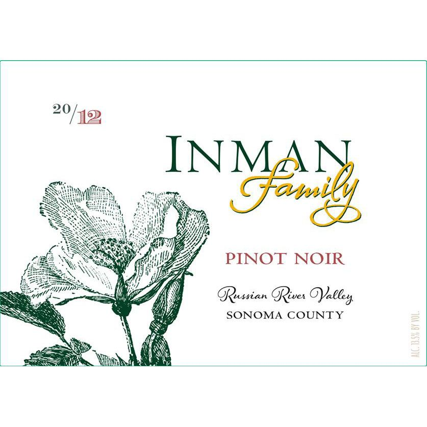 Inman Family Russian River Pinot Noir 2013 Front Label
