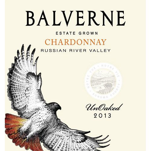 Balverne Unoaked Chardonnay 2013 Front Label