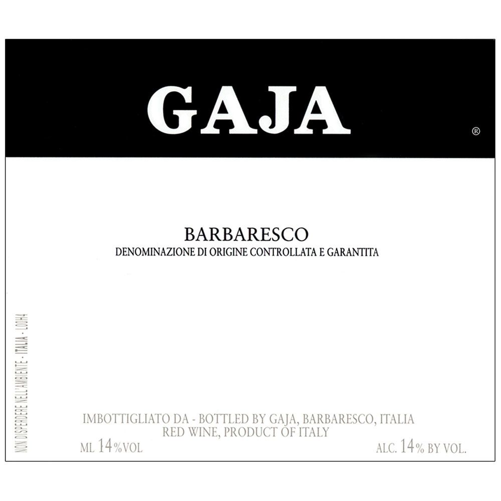 Gaja Barbaresco (375ML half-bottle) 2012 Front Label