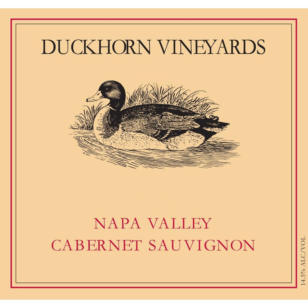 Duckhorn Napa Valley Cabernet Sauvignon (marked label) 1991 Front Label