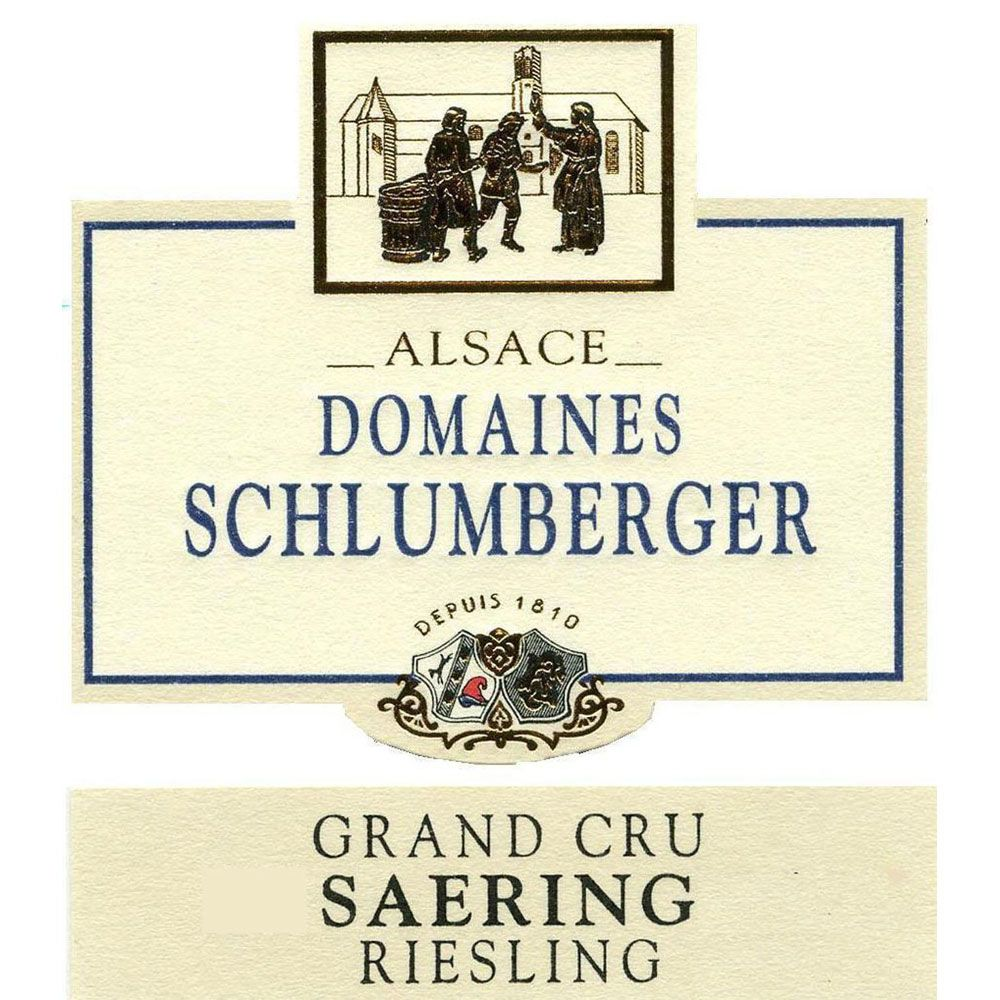Domaines Schlumberger Grand Cru Saering Riesling 2012 Front Label