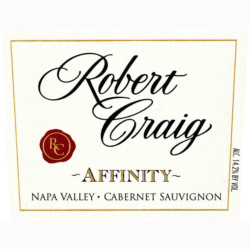 Robert Craig Cellars Affinity 1999 Front Label