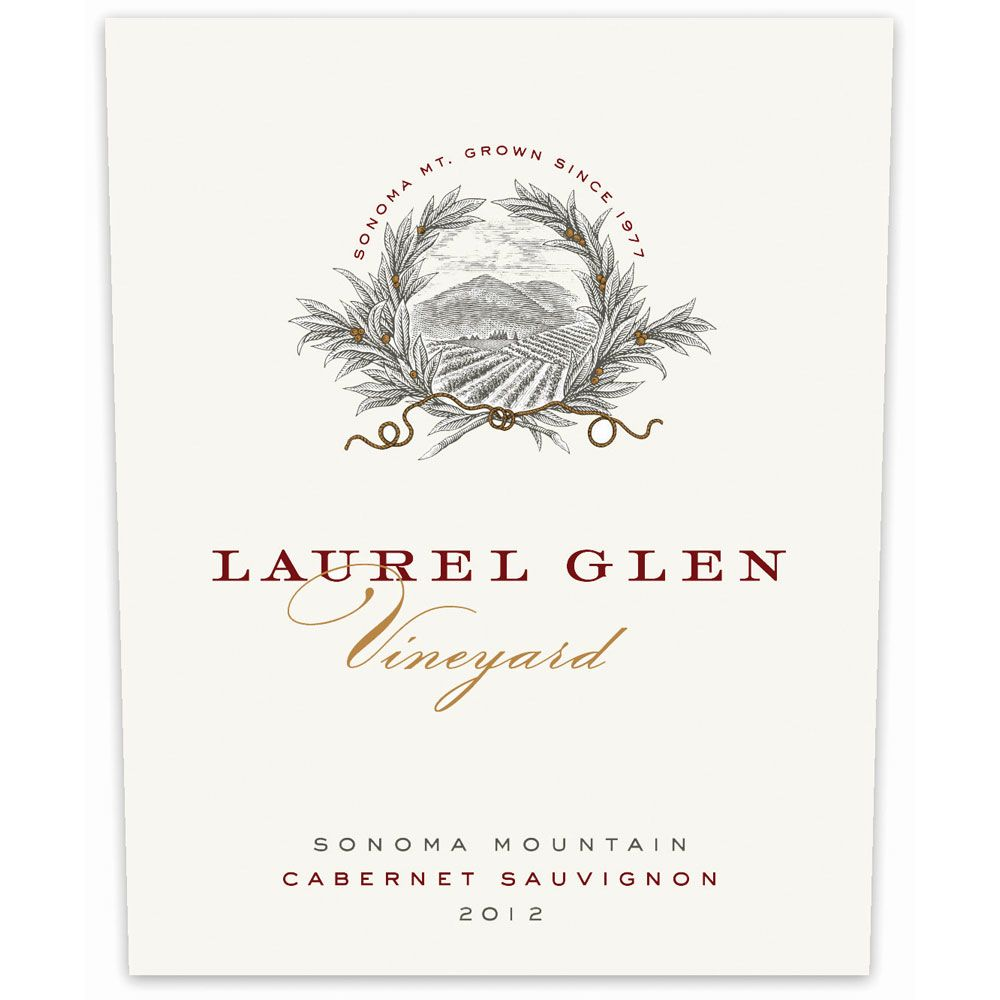 Laurel Glen Sonoma Mountain Estate Cabernet Sauvignon 2012 Front Label