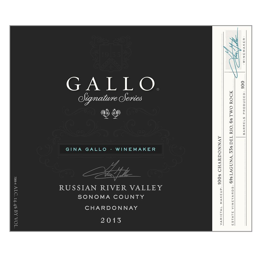 Gallo Signature Series Chardonnay 2013 Front Label