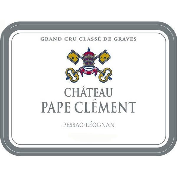 Chateau Pape Clement Blanc 2013 Front Label