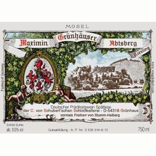 Maximin Grunhauser Riesling 2014 Front Label