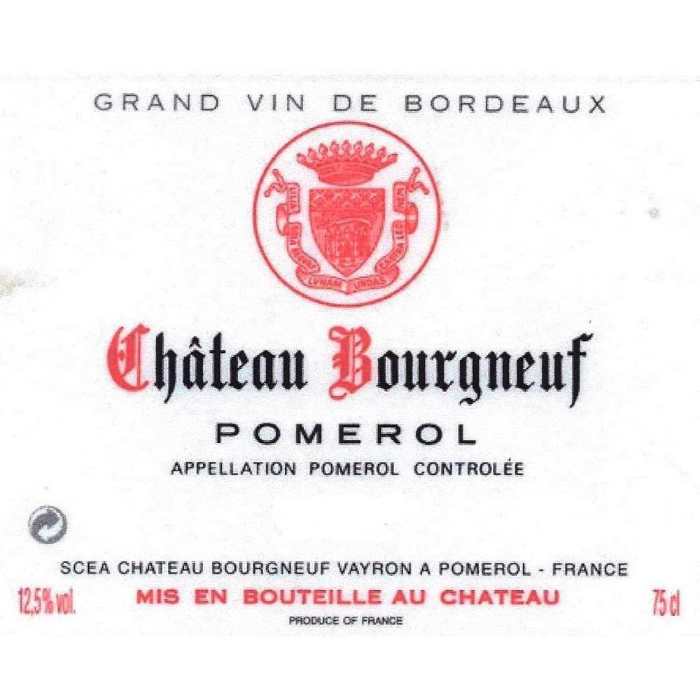 Chateau Bourgneuf  2000 Front Label