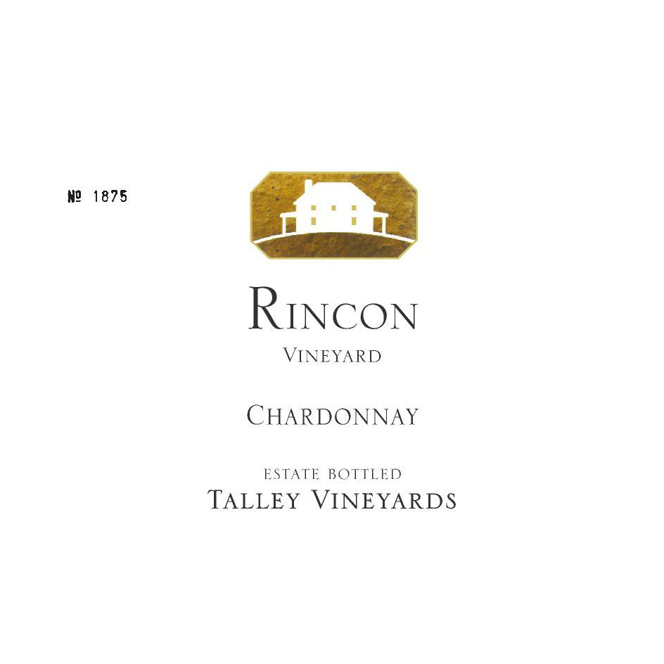 Talley Rincon Vineyard Chardonnay 2014 Front Label