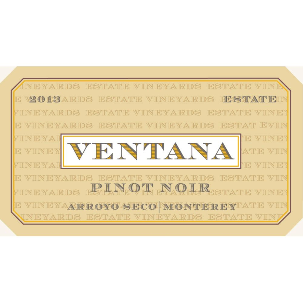 Ventana Arroyo Seco Estate Pinot Noir 2013 Front Label