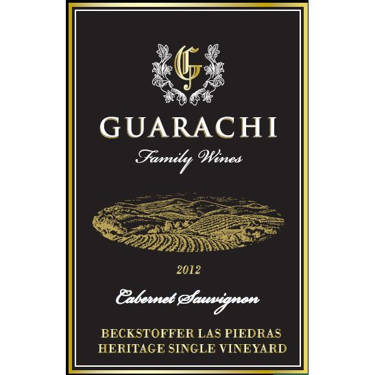 Guarachi Beckstoffer Las Piedras Heritage Single Vineyard Cabernet Sauvignon 2012 Front Label