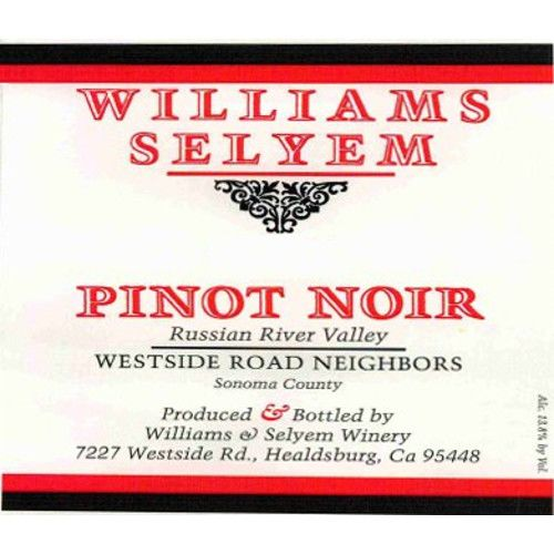 Williams Selyem Westside Road Neighbors Pinot Noir 2014 Front Label