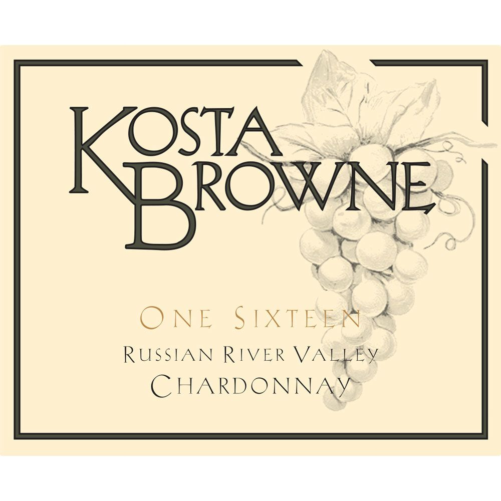 Kosta Browne One Sixteen Chardonnay 2014 Front Label