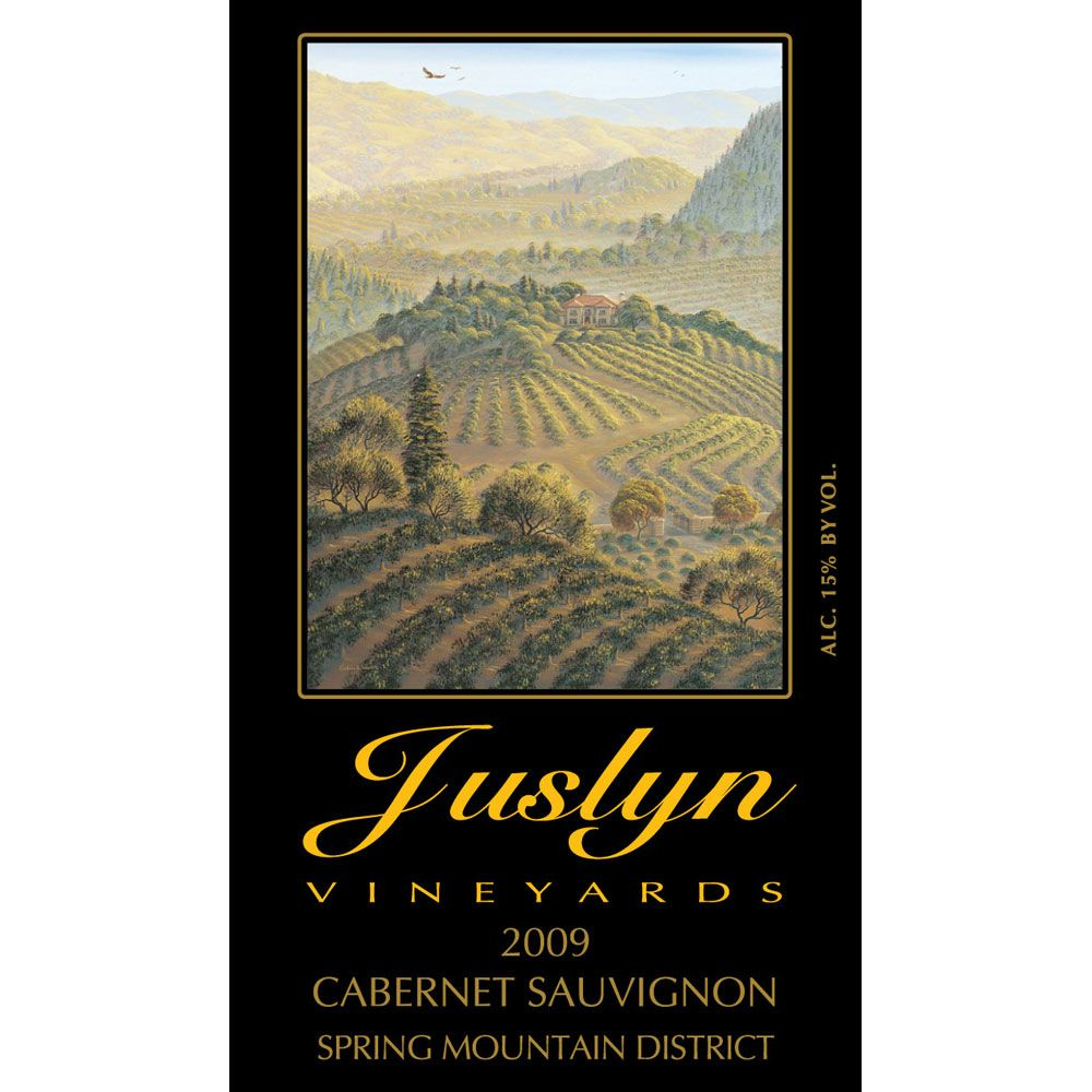 Juslyn Spring Mountain Cabernet Sauvignon 2009 Front Label