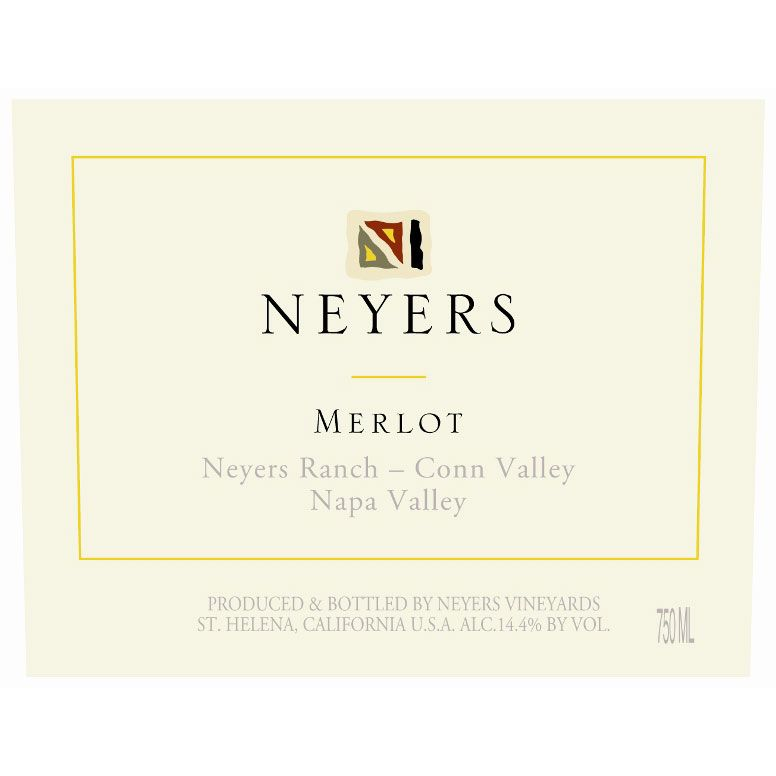 Neyers Conn Valley Merlot 2013 Front Label