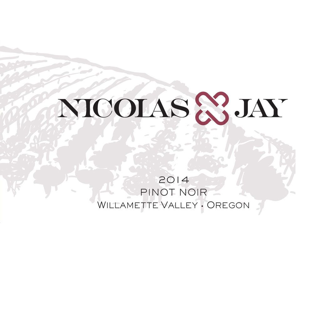 Nicolas-Jay Willamette Valley Pinot Noir 2014 Front Label