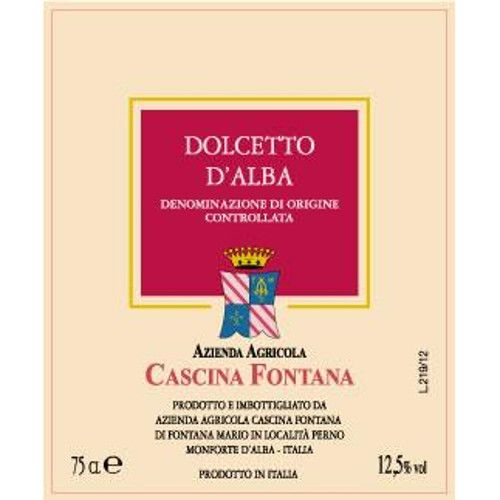 Cascina Fontana Dolcetto d'Alba 2012 Front Label