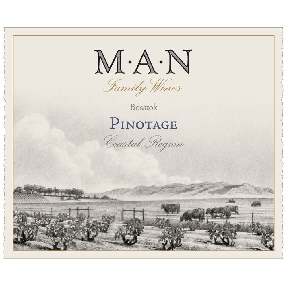 MAN Vintners Pinotage 2014 Front Label