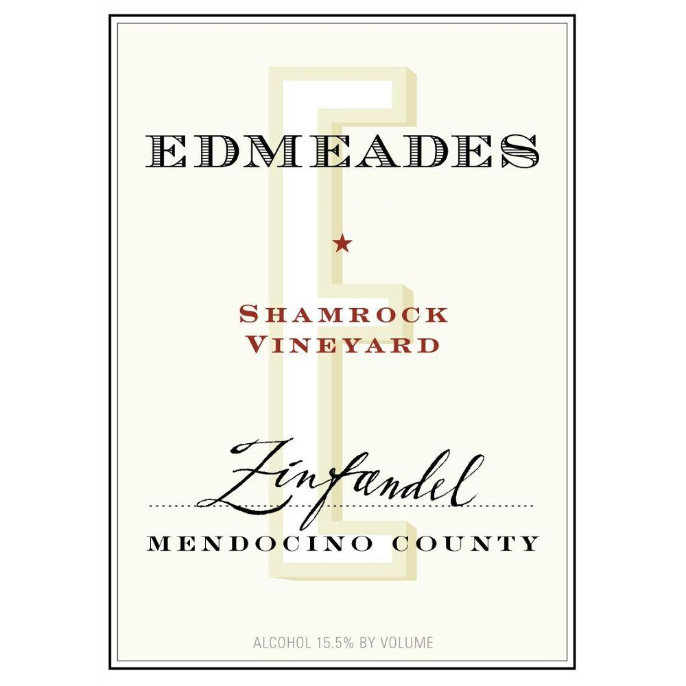 Edmeades Shamrock Vineyard Zinfandel 2012 Front Label