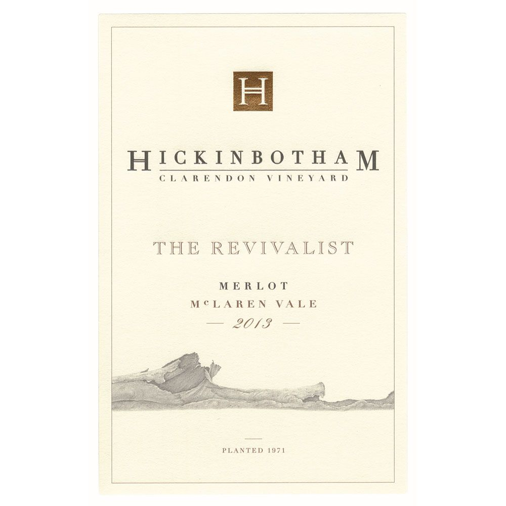 Hickinbotham The Revivalist Merlot 2013 Front Label