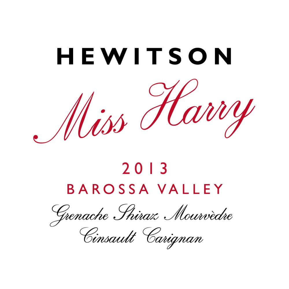 Hewitson Miss Harry G.S.M. 2013 Front Label