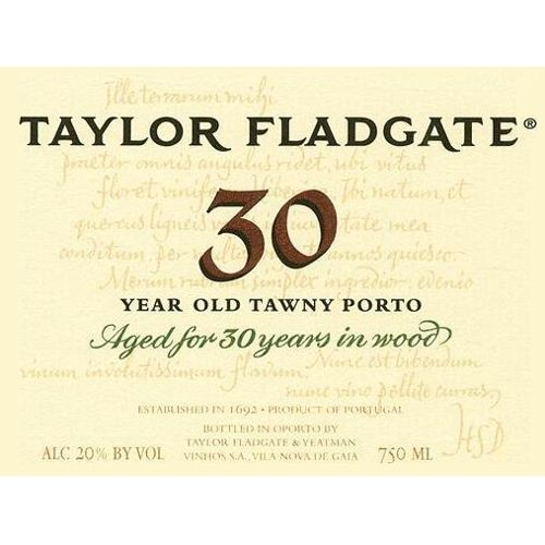 Taylor Fladgate 30 Year Old Tawny Front Label